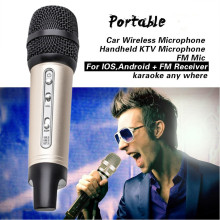 лучшая цена New Car Wireless Microphone Handheld KTV Microphone