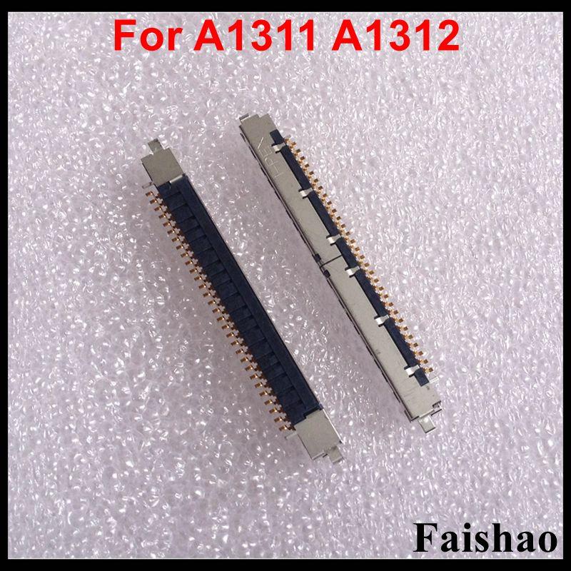 Faishao 1 pçs 5 novos 30 pinos I-PEX lcd led lvds cabo conector para imac 21.5