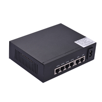 NF1006 POE Switch 4 Ethernet Port Uplink Ethernet Port 1.6Gbps IEEE 802.3at Power Over Ethernet 10/100Mbps Switch Power Adapter