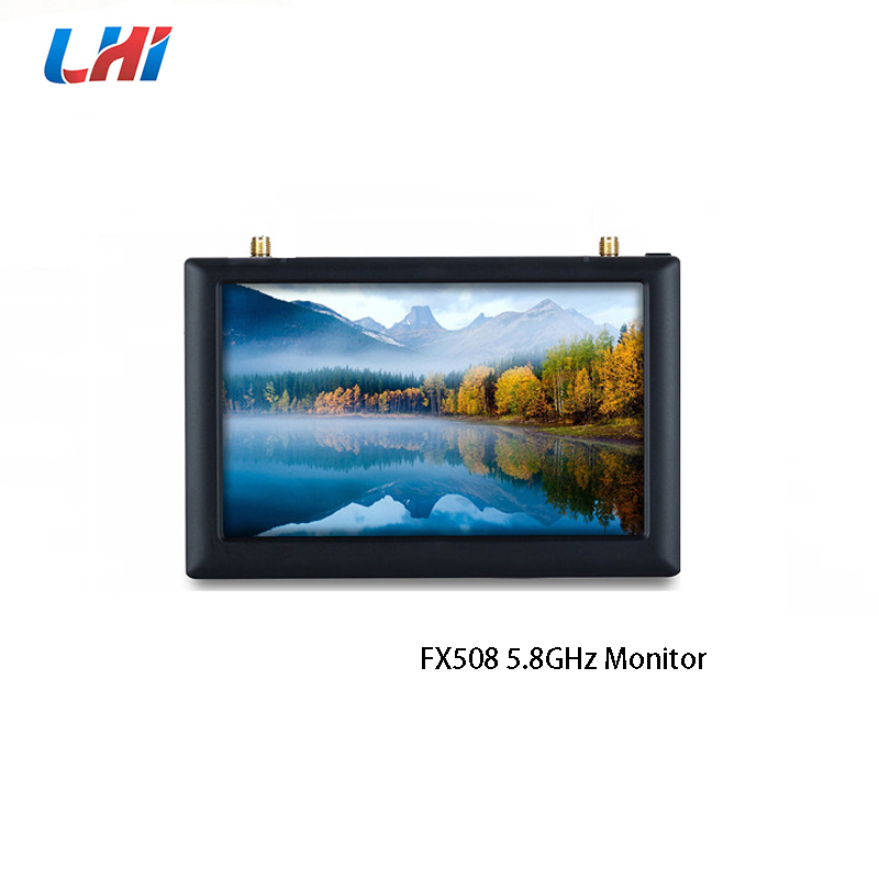 FX508 5.8GHz FPV LCD Monitor High Brightness 5 Diversity Receiver With DVR Function 800x480 Pixels 40CH For RC Quadcopter diy rx5808 5 8g 40ch diversity fpv receiver with oled display for fpv racer quad