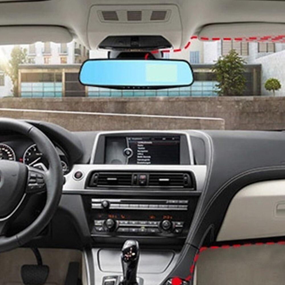 Full HD 1080 P Voiture caméra dvr Auto 4.3 Pouces rétroviseur Numérique enregistreur vidéo Double Lentille Registratory Caméscope
