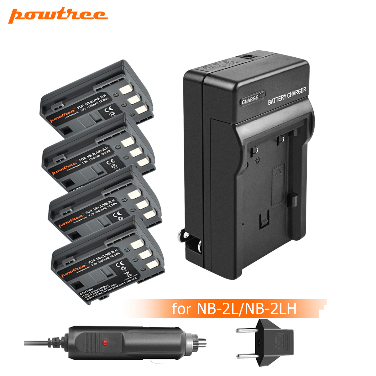 3pcs NB 2L NB 2L NB2L NB 2LH NB 2LH Camera Li ion Battery LCD USB Charger for Canon DC310 DC320 DC330 DC410 DC420 HV20 HG1 L20 in Digital Batteries from Consumer Electronics