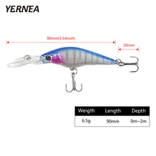 1pcs lifelike fishing lures 3d eyes 6 jointed sections lures crankbait hard bait fish hook jig carp pesca fishing tackle Yernea 1pcs 9cm 6.5 g pesca Minnow Wobblers 8 Colors Fishing Lures Artificial Bait Carp Crankbait Fishing Lure Tackle 3D Eyes