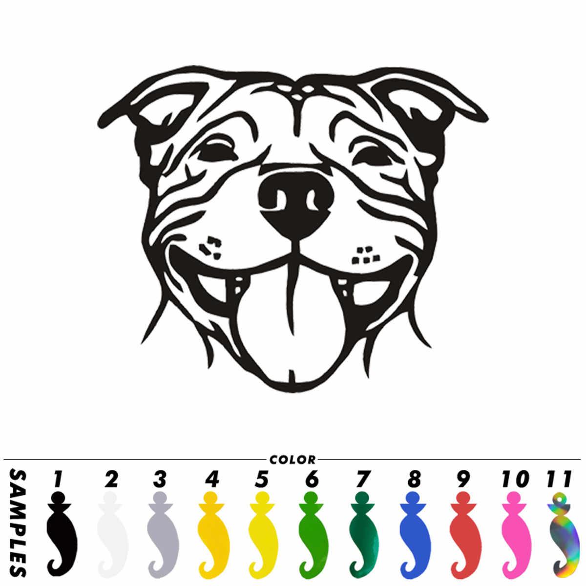 The More I Love My STAFFY Dog Vinyl Car Van Sticker