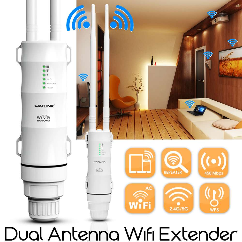 Outdoor Wifi Repeater WISP Wavlink AC600 High-Power 5ghz/433mbps Wireless 27dbm 1