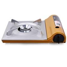 Ultra-cienkie kuchenki turystyczne kaseta Grill przenośny odkryty piec gazowy przenośny piec gotowanie piknik piec gazowy tanie tanio CN (pochodzenie) W zestawie Outdoor Stove Nie wiatr tarcza Stałe przyprawy STAINLESS STEEL SPLIT Wielofunkcyjny piec na opał