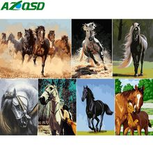 AZQSD Horse Series Painting By Numbers Handmade Gift DIY Abstract Oil Paint By Number Canvas Kits Animal Home Decor SZGD063(China)