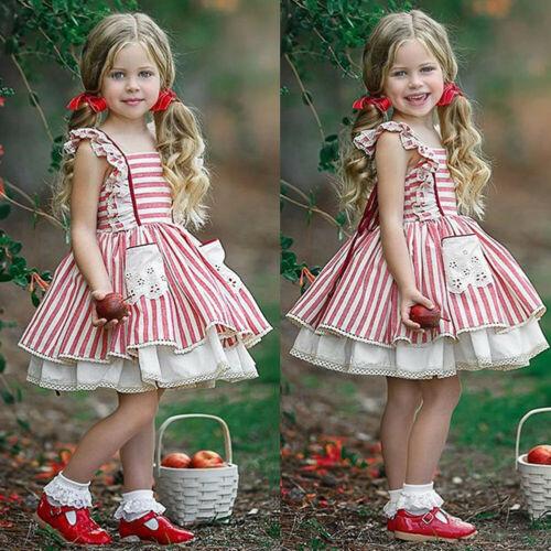 Милое детское платье с оборками на бретелях для девочек; Кружевное платье пачка без рукавов в полоску с фатиновой юбкой и кружевной каймой; Платье принцессы для девочек; Одежда Платья      АлиЭкспресс