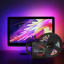 Ambilight-tv USB Светодиодная лента 5050 RGB Dream color ws2812b полоса для ТВ настольного ПК экран тыловая подсветка 1 м 2 м 3 м 4 м 5 м