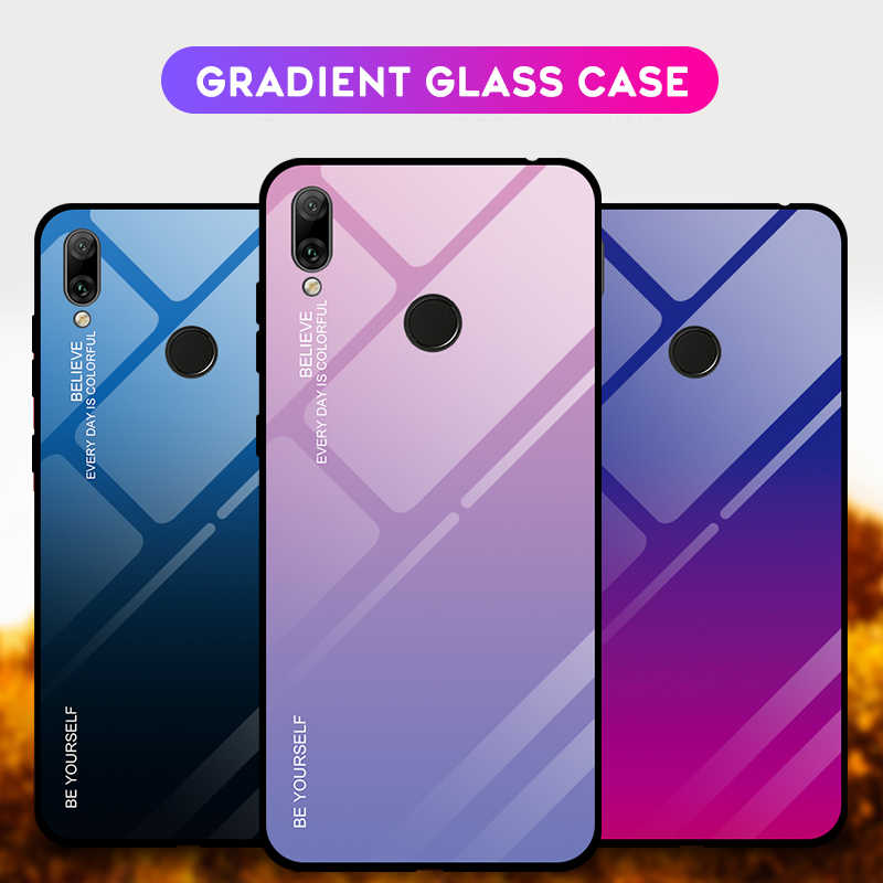Graded Tempered Glass Case For Huawei Y7 Prime Y6 Pro Y9 P Smart 2019 Case for Huawei P30 Pro P20 Lite Y7 Y6 Y5 2018 Coque Cover