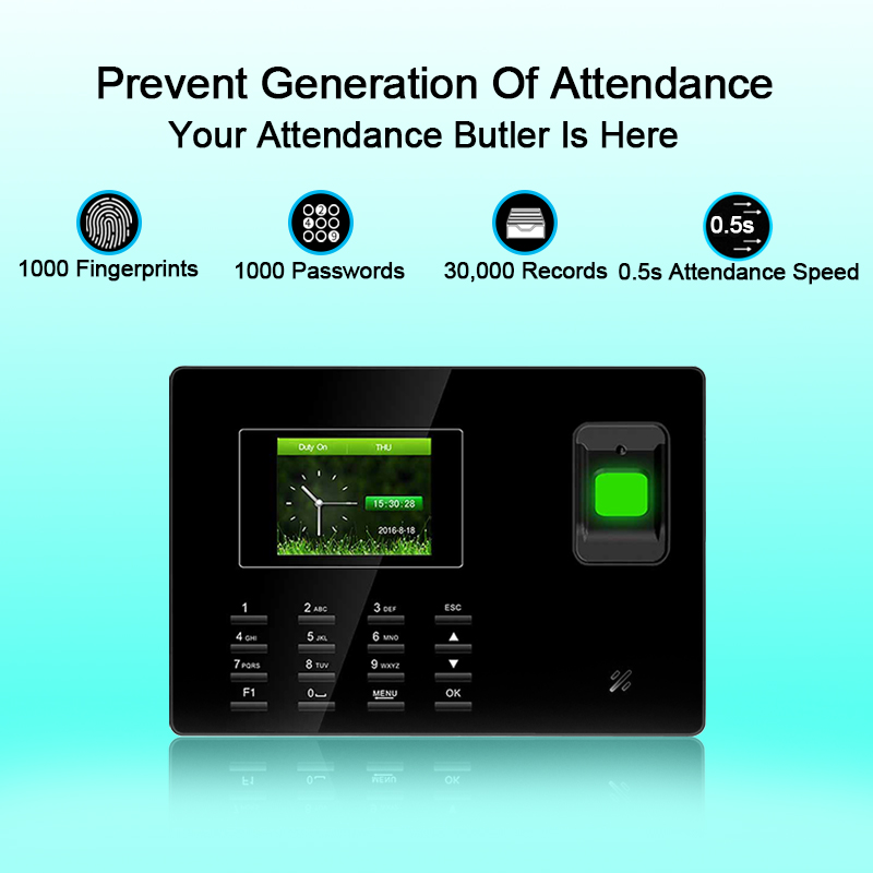 Eseye Time Attendance Biometric Attendance System TCP/IP USB Fingerprint Reader Access Control Office Time Clock Employee Device