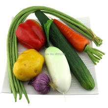 Gresorth Fake Mixed Vegetables Artificial Pepper Cucumber Bean Carrot Garlic Potato Kitchen Decoration