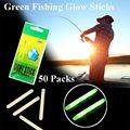 50 pçs 7.5x75mm tamanho grande fluorescente lightstick pesca flutuador 100 m escuro brilho vara noite flutuador vara luz pesca enfrentar visual