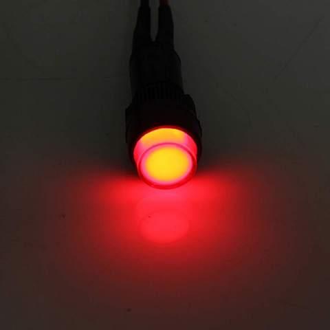 Car Auto LED Dash Board Panel Warning Light Indicator Lamp Red Blue Green Amber Waterproof 12V 10/12mm Car Light Source Islamabad