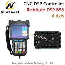 RichAuto DSP B58 USB CNC Controller B58s B58e 4 Axis Control System Manual For CNC Step Servo Machine NEWCARVE все цены