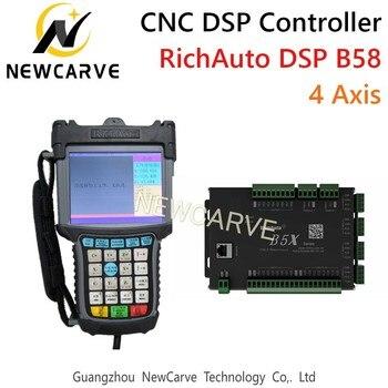 цена на RichAuto DSP B58 USB CNC Controller B58s B58e 4 Axis Control System Manual For CNC Step Servo Machine NEWCARVE