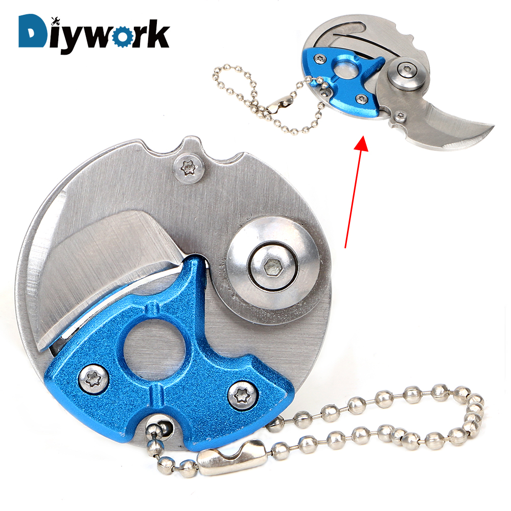 Diywork Mini Folding Blade Self Defense Edc Pocket Knife Keychain Knife Hand Tool Sets Camping Outdoor Survive Tools Hand Tool Sets Aliexpress