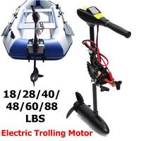 DC 12/24V 18/28/40/48/60/88LBS Electric Trolling Motor Inflatable Boat Outboard Engine