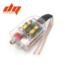 Adaptador de som automotivo para rca, adaptador de alta a baixa saída de linha automática, comversor de áudio, subwoofer de som, amplificador ajustável