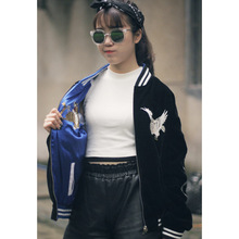 New Harajuku Streetwear Fashion Janpan Souvenir Embroidery Women's Baseball Jackets