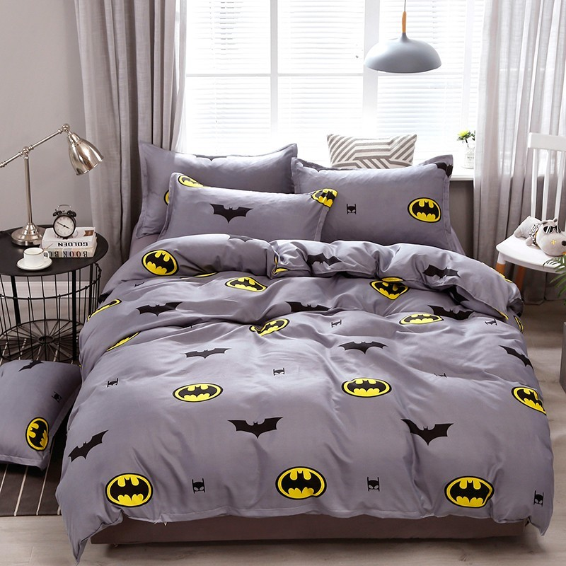 Usa Russian Cartoon Kids Bedding Sets Children Toddler Batman Duvet Cover Pillowcase Set 2/3pcs Bedclothes 200x200cm Size