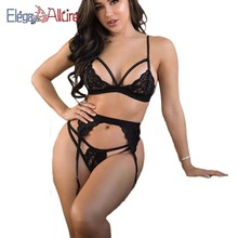 E&A Plus Size Sexy Lingerie Sets Women Porno Costume Female Bra and Panties Set Erotic Intimate Femme Underwear Lace Babydolls