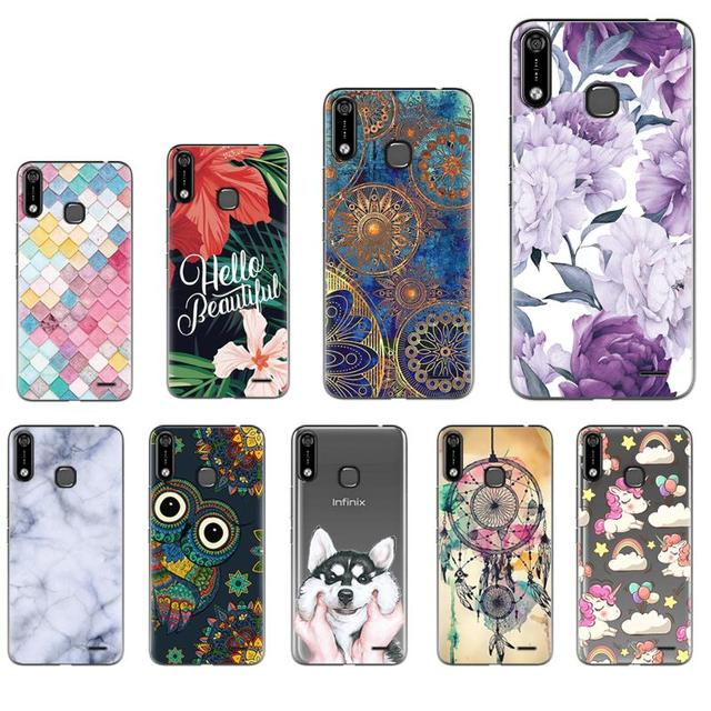 Back Phone Cover For Infinix Hot 7 / X624 Fashionable Design Soft Phone Case Colorful Painted TPU Silicone Cover
