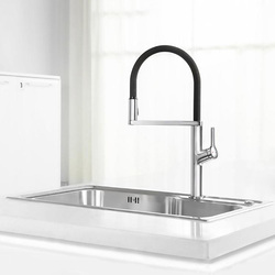 U-Shaped Kitchen Faucet 300 Degree Rotatable Powerful Spray Quickly Senses Faucet For Youpin Handle / Induction Control