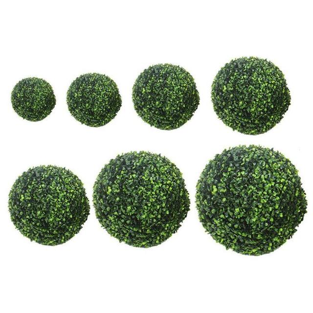 Large 30cm 40cm Artificial Plant Ball Topiary Tree Boxwood Wedding Party Home Outdoor Decoration Festival Decor