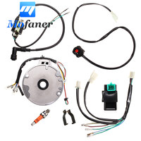 Motorcycle Dirt Pit Bike CDI For Spark Plug Switch Magneto Wire Harness Kit 50 125cc