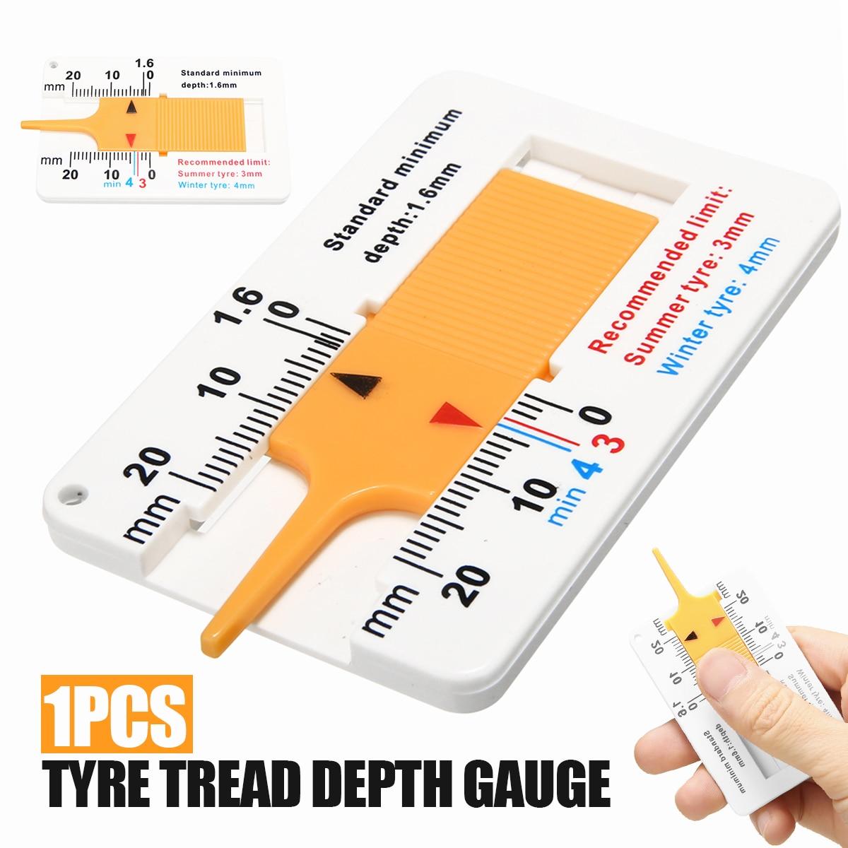 For Car Repair Tool 1pc Compact Tyre Tread Depth Gauge Car Motorcycle Trailer Van Wheel Measure Tools 3mm Summer 4mm Winter