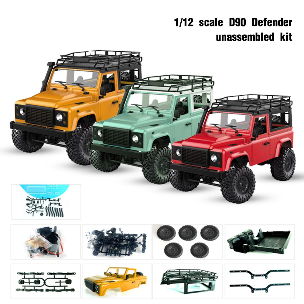 D90 1:12 Scale RC Crawler Car 4WD Remote Control Truck Unassembled KIT MN-90K Defender Pickup RC Cars For Children Birthday Gift