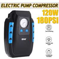Powerful Emergency 12V DC 120W Car Portable Air Compressor Pump 180PSI Tire Car Air Compressors For Car Motorcycle LED Light