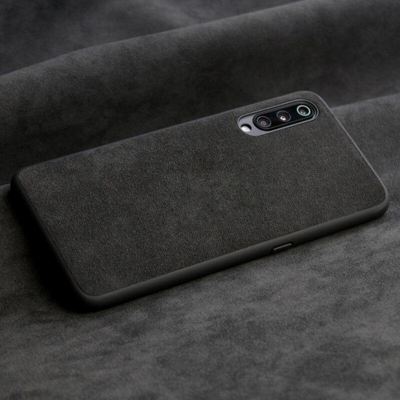 Italian Suede Like Fabrics Leather Back Cover for Xiaomi Mi 9 9se 6 6x Cases Luxury