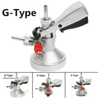 A/S/G Type Homebrew Beer Tap Keg Coupler Handle Draft Beer Dispenser For Home Wine Brew+Air Relief Valve Beer Faucet System Tool