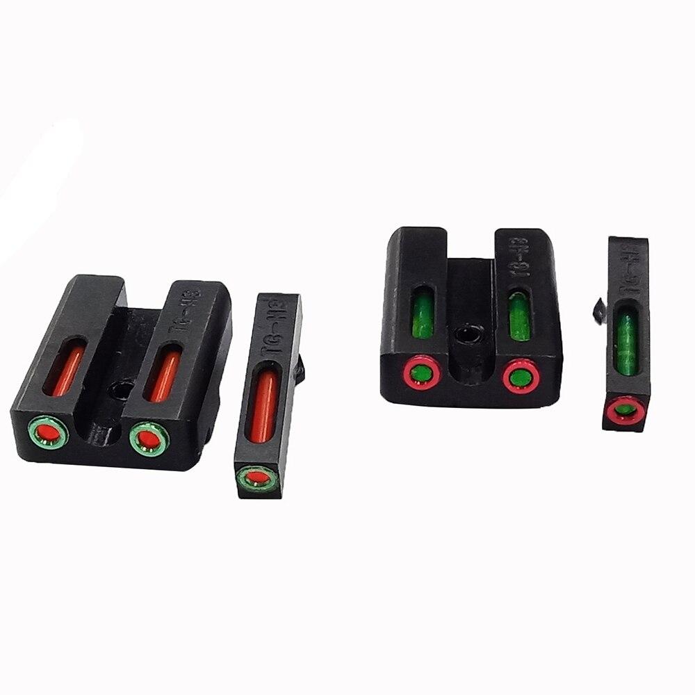 Magorui Glasvezel Sight Set-Rood/Groene Front Rear Sight Voor Glock