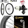 700c карбоновое колесо для шоссейного велосипеда Powerway R23 ступица 1423 клинчер трубчатый китайский велосипед колесная 30 мм 38 мм 47 мм 50 мм 60 мм 88 мм