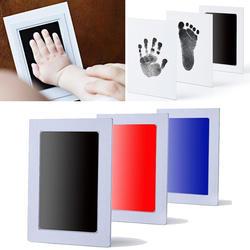 Детский отпечаток ноги нетоксичный новорожденный отпечаток руки Inkpad водяной знак Детские сувениры литье глина игрушки штемпельная