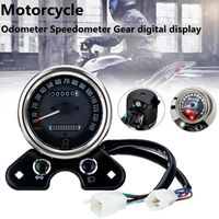 Motorcycle Odometer Speedometer LCD Digital Gauge W/ Light USB Charger Interface For Honda CG125 Cafe Racer