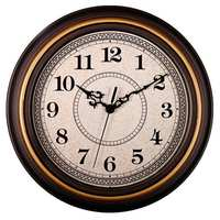 12-Inch Silent Non-Ticking Round Wall Clocks  Wall Clocks Decorative Vintage Style Home Kitchen/Living Room/Bedroom(Golden Cir)