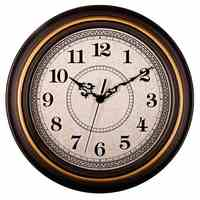 12-Inch Silent Non-Ticking Round Wall Clocks, Wall Clocks Decorative Vintage Style,Home Kitchen/Living Room/Bedroom(Golden Cir
