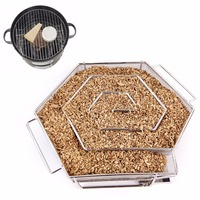JX LCLYL Cold Smoke Generator For Smoker Wood Chips Grill Cooking Tools BBQ Accessories