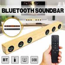 Часы 30 W Портативный деревянные Bluetooth колонки звуковая панель телевизора дома Театр колонки звук бар AUX/HDMI Дистанционное усилитель управления