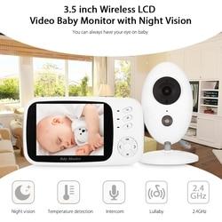 XF808 Display LCD Dello Schermo Audio Baby Monitor Wireless Digital Video Per Bambini Sensore di Temperatura Sacco A Pelo Del Bambino Monitor di Visione Notturna