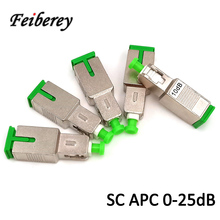 SC APC Singlemode Female to Male Optical Attenuator with 2dB 3dB 5dB 7dB 10dB 15dB Optical Attenuation Fiber Optic Attenuator цена
