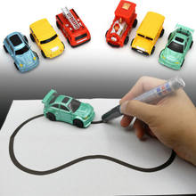 Magic Pen Inductive Truck Car Toy MINI Magic Fangle Children's Truck Car Christmas Toy kids Gift for New Year(China)