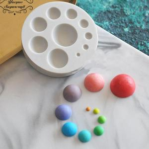 3D Silicone Mold Ball Shaped Fondant Cake Mold Soap Mould Bakeware Baking Cooking Tools Sugar Cookie Jelly Pudding Decor