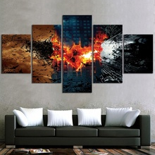 5 Piece Dark Knight Batman Video Game Poster HD Wall Pictures for Bedroom Decor