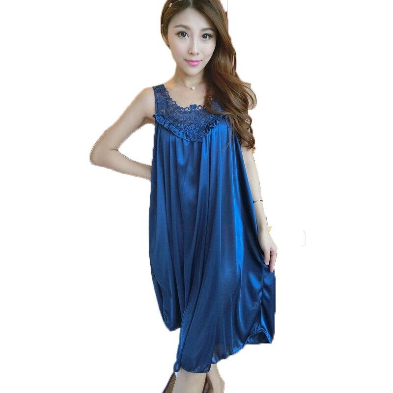 Silk Dressing Gowns Ladies: Women Silk Sleepwear Bedgown Ladies Sexy Lingerie