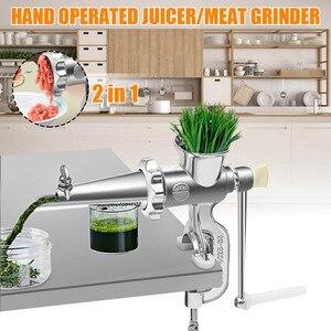 Image 1 - 2 In 1 Famiglia Operato Spremiagrumi Tritacarne Cibo Succo di Spremiagrumi Presse Extractor Frutta A Base di Carne Verdura Wheatgrass